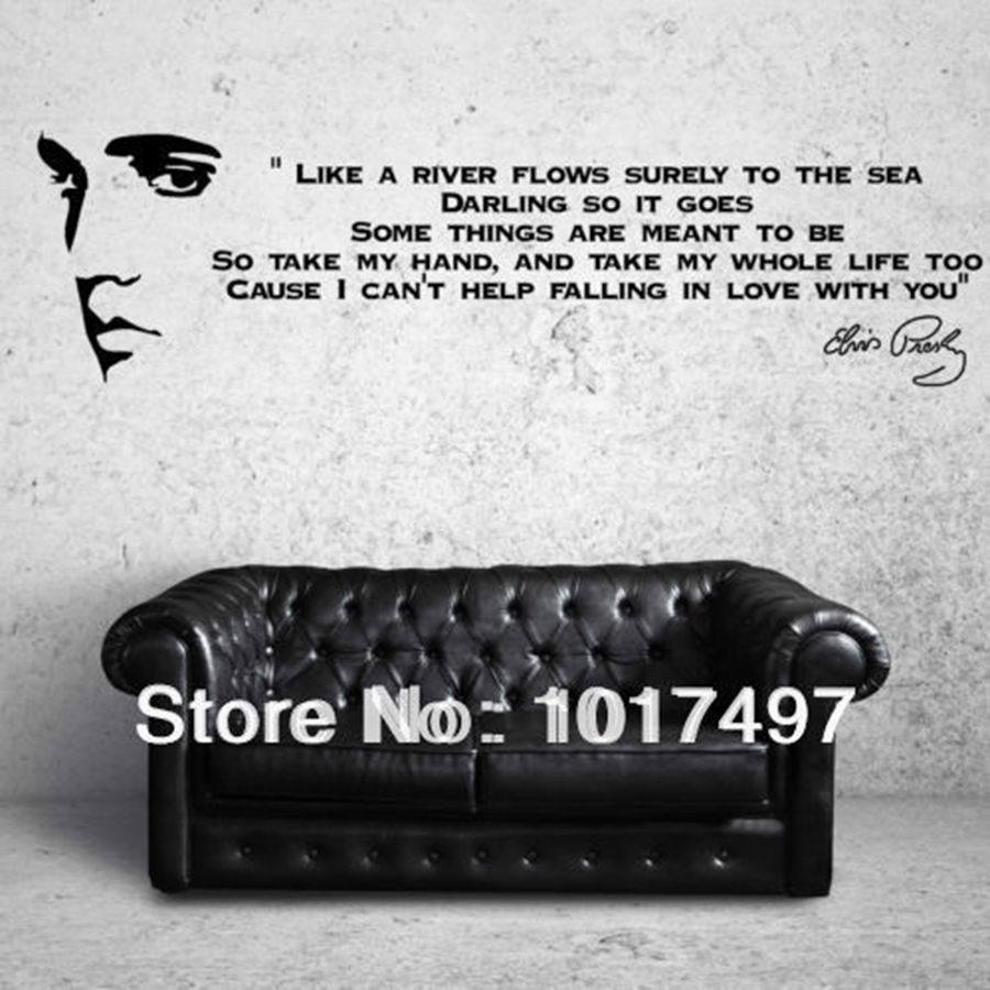 Like A River FlowsELVIS PRESLEY SONG LYRICS Quotes Vinyl Wall Art