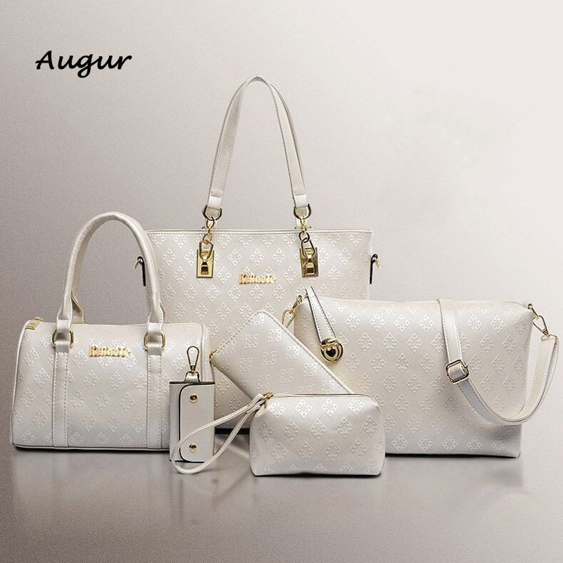 ФОТО 2016 Fashion  Trend Women Handbag High Quality Top Gade Bag Ladies Shoulder Bag Women Messenger Bag 4 Color 6 Sets