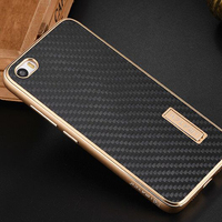 Xiaomi Mi5 Case Luxury Metal Aluminum Frame Real Carbon Fiber Back Cover Set Phone Cases For
