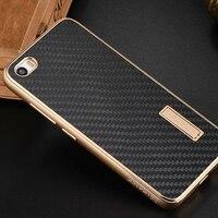 Xiaomi Mi5 Case Luxury Metal Aluminum Frame Real Carbon Fiber Back Cover Set Phone Cases For