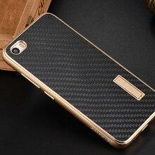 Xiao Mi Mi5 случае роскошный металлический alu Mi num Рамка Real углеродного волокна задняя крышка набор телефон чехлы для сяо Mi Mi5 Pro Чехол M5 Mi 5 Cover