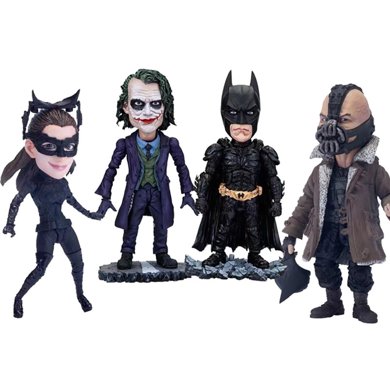 Movie The Dark Knight Batman Joker Bane Catwoman Movable Eyes Joint PVC Action Figures Collectible Model Toys