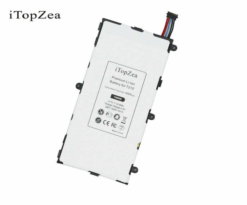Itopzea 1X4000 M Ah T4000E Baterai Pengganti untuk Samsung Galaxy Tab Tablet 3 7.0 T210 T211 T215 T217A T2105 t210R P3200 + Alat