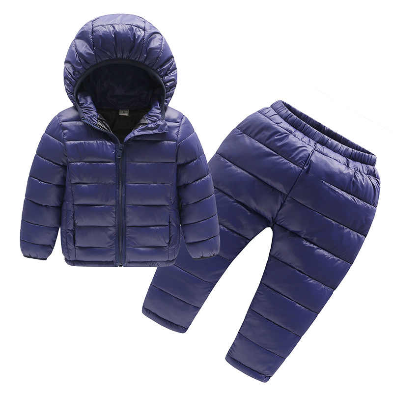 531bf6313 Children Winter Clothes Sets 2Pcs Hooded Cotton-Padded Jacket+Pants Baby  Boys Girls Warm Parka Coat Kids Winter Suits For Girls
