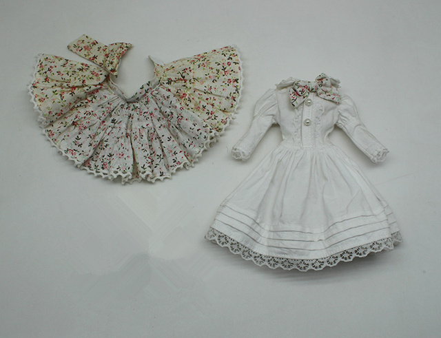 Neo Blythe Doll White Dress With Bow