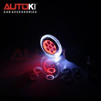AUTOKI High quality 42W LED single high beam len with devil eyes,high beam LED devil eye projector for H4 h7 9005 9006 headlight