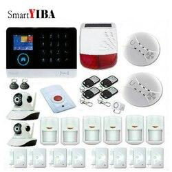 SmartYIBA bezprzewodowy na zewnątrz zasilany energią słoneczną alarmu stroboskopowego inteligentny System włamywacz System alarmowy do domu i wifi GSM Alarm