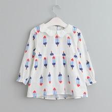 VORO BEVE 2017 Nouveau Printemps Filles Robe De Mode Crème Glacée Impression Filles Robes Parti Impression Enfants Vêtements