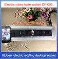HDMI RJ45 электрическая вращающаяся настольная розетка/Скрытая/Мультимедийная USB зарядка розетка/можно выбрать Функциональный модуль EU/US/Plug/...