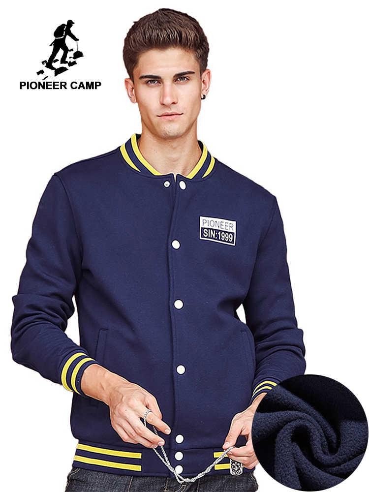 e2cdf08f6c6 Пионерский лагерь плотные флисовые толстовки мужские брендовая одежда  наивысшего качества кнопку куртка мужской на осень-