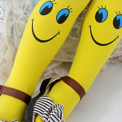 2017 Hot Sale Baby Girls Stockings Smile face Velvet Ballet Soft Stockings tights Kids Pantyhose Stretch Pants for 3-9 Years