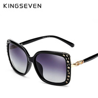 Original Sunglasses Women Polarized Elegant Rhinestone Ladies Sun Glasses Female Sunglasses Oculos De Sol KINGSEVEN Shades