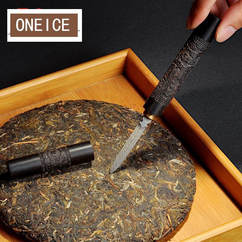 Резные ebony Pu'er чай ножи узор сталь черный игла для чая для Кунг Фу церемонии запасных Запчасти