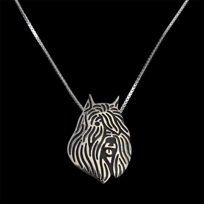 2018 Factory Supply Womens Black Alloy Jewelry Necklaces Lovers Bouvier Des Flandres Pendant Necklaces Drop Shipping