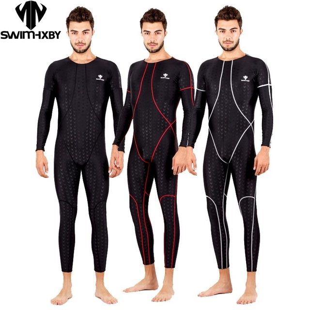 6b7b6cdded HBXY Mens one piece swimwear full body swimsuit for men competition  swimsuits racing swim suit men professional swimming suits