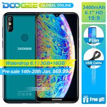 DOOGEE Y8 Waterdrop ekran Smartphone 6 1 FHD 19 9 wyświetlacz 3400mAh MTK6739 Quad Core 3GB RAM 16GB ROM Android 9 0 4G LTE Mobile tanie tanio według zastosowania Francuski niemiecki rosyjski polski angielski turecki włoski norweski hiszpański portugalski