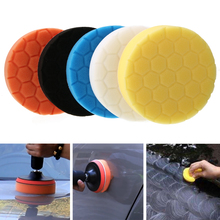 5pcs 5 Buffing Sponge Foam Polishing Pad Kit For Car Polisher Buffer + Woolen Colors