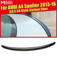 For Audi A4 A4a A4Q Spoiler B8.5 S4 Style Carbon Fiber rear spoiler Rear trunk Lid Boot Lip wing car styling Decoration 2013 16