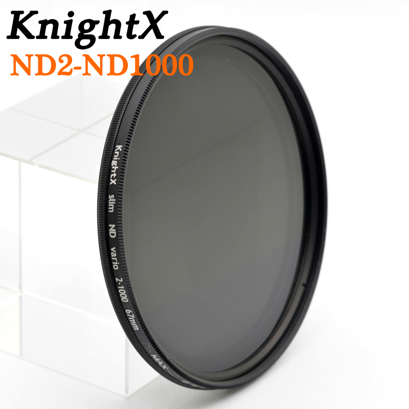 KnightX ND2 to ND1000 52mm 58mm nd2-400 nd400 Variable Neutral Density ND Lens Filter for Canon nikon d3200 d5300 600d 100d 500d