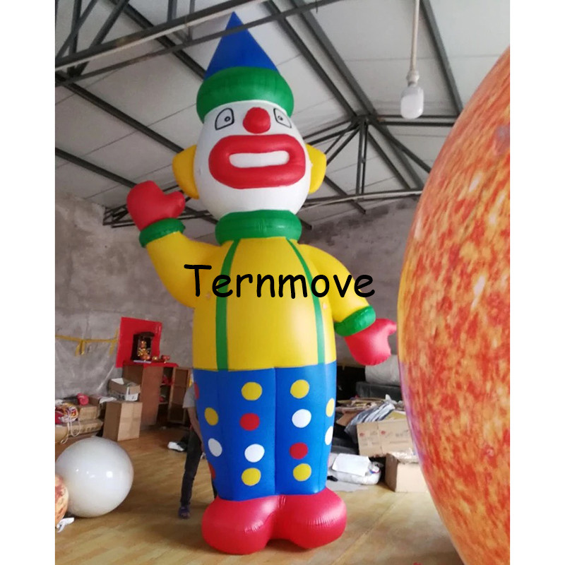 inflatable clown cartoon, inflatable standing cartoon model, opening ceremony advertising giant pvc helium clown designinflatable clown cartoon, inflatable standing cartoon model, opening ceremony advertising giant pvc helium clown design