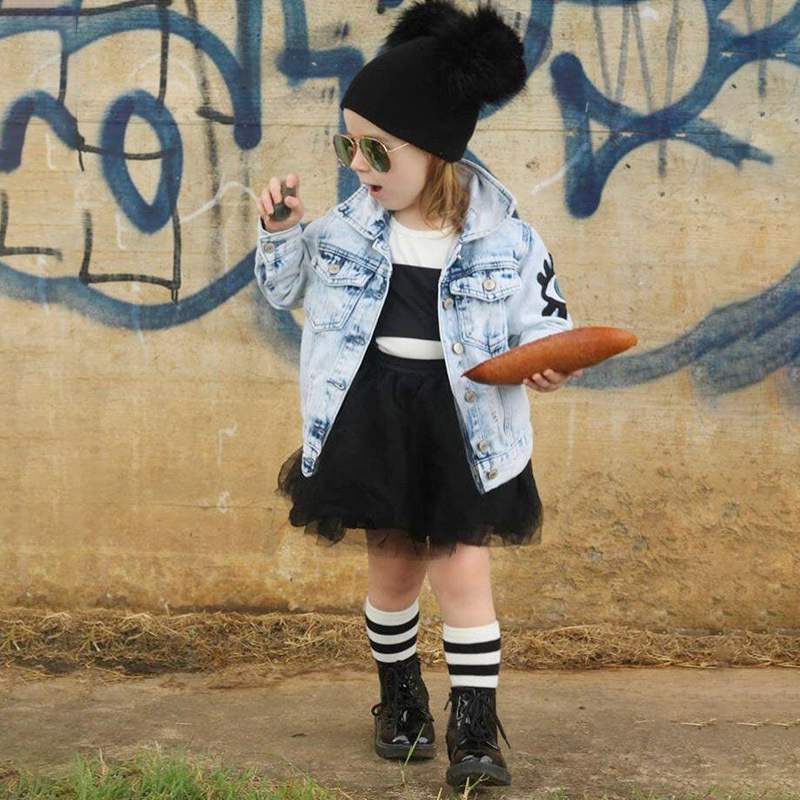 Children Jeans Jacket For Girls Embroidery Vintage Kids Jackets Coats Boys Denim Coat Spring Autumn Baby