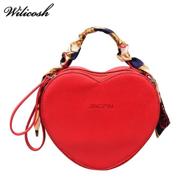Wilicosh Brand 2018 Heart Handbags Women Crossbody Messenger Bags Pu Leather  Shoulder Bags Designer Fashion Small Bag WBS307 0dbcda711601a