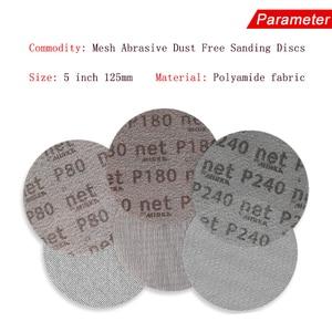 Image 4 - 50 Stks/doos 5 Inch 125Mm Schuurpapier Autonet Mesh Schuurschijven Stofvrij Anti Blocking 80/120/180/240/320 Grits Voor Hout Schuren