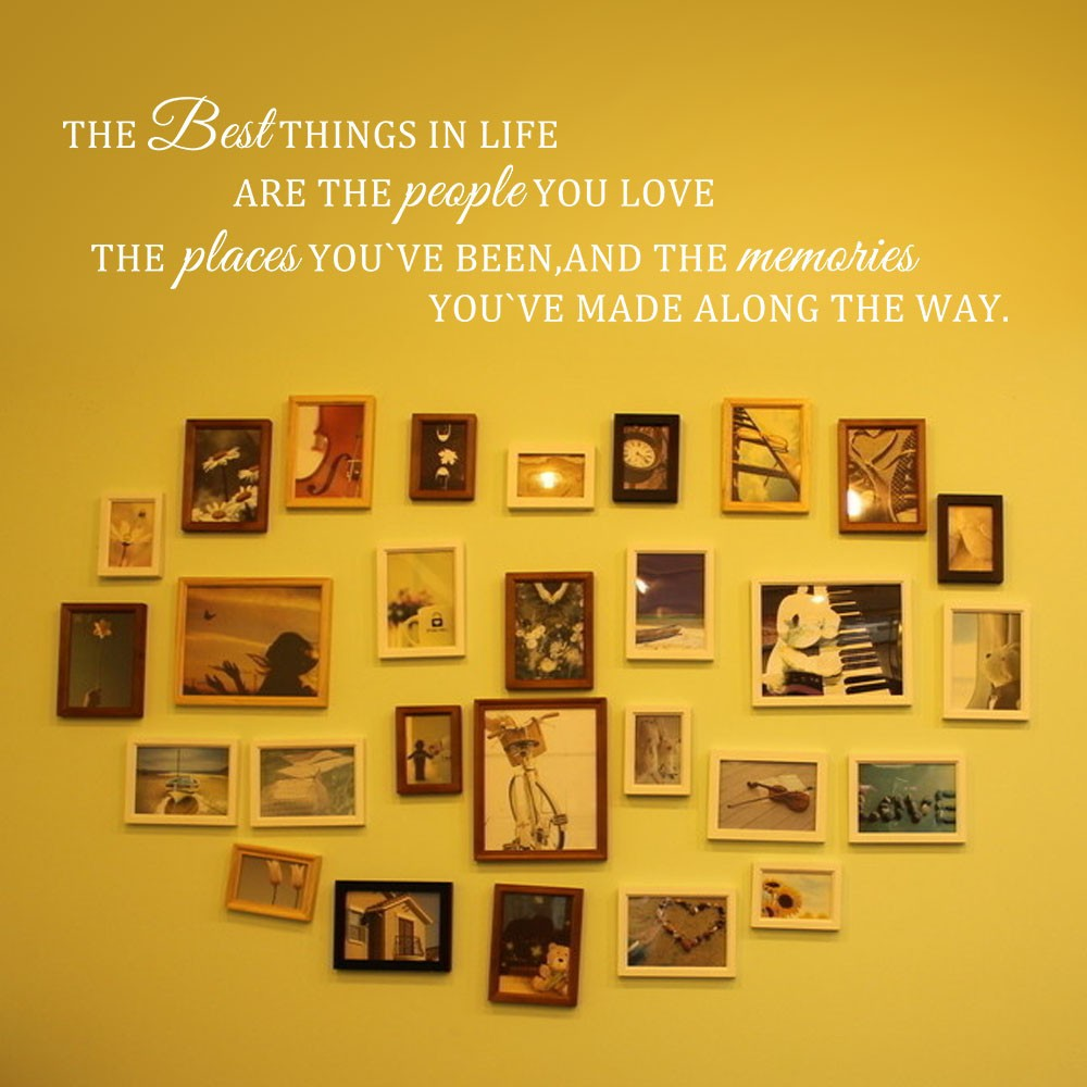 Inspirational Wall Quote The Best Things In Life Love Place Memories ...