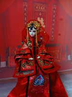 """12 """"artesanal collectible chinês bonecas tradicional dinastia qing princesa boneca oriental bonecas brinquedos presentes para meninas"""
