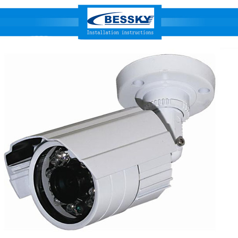 Bessky HD 700TVL 800TVL 1200TVL Camera Home Security Surveillance CCTV System Waterproof IR-Cut Night Vision 24 Led Cam zea afs011 600tvl hd cctv surveillance camera w 36 ir led white pal
