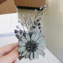 CX-Shirling 4 Colors Crystal Daisy Female&Male All Match Cloth Brooch Pin Handmade Suit Korea Fashion Style