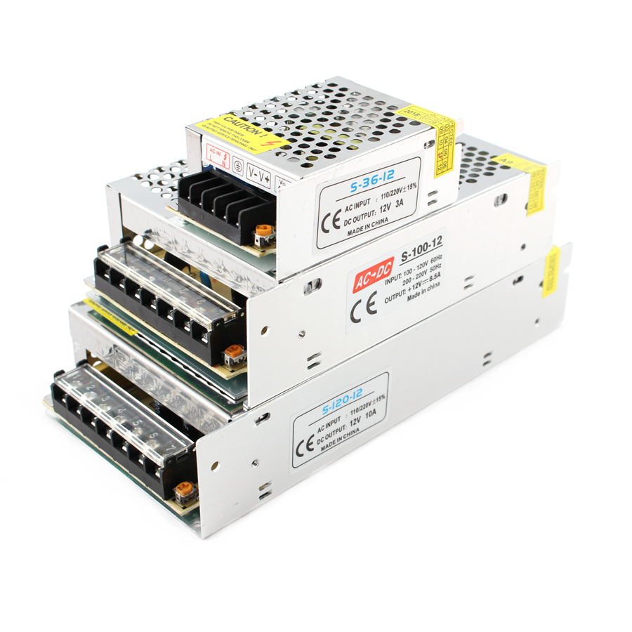 YI MEI DA Switching Power Supply 12V 33A 400W Power Adapter Driver Transformers 220V 110V AC SMPS for 3D Printer,CCTV,Radio,Computer Project LED Strip Power Driver S-400-12