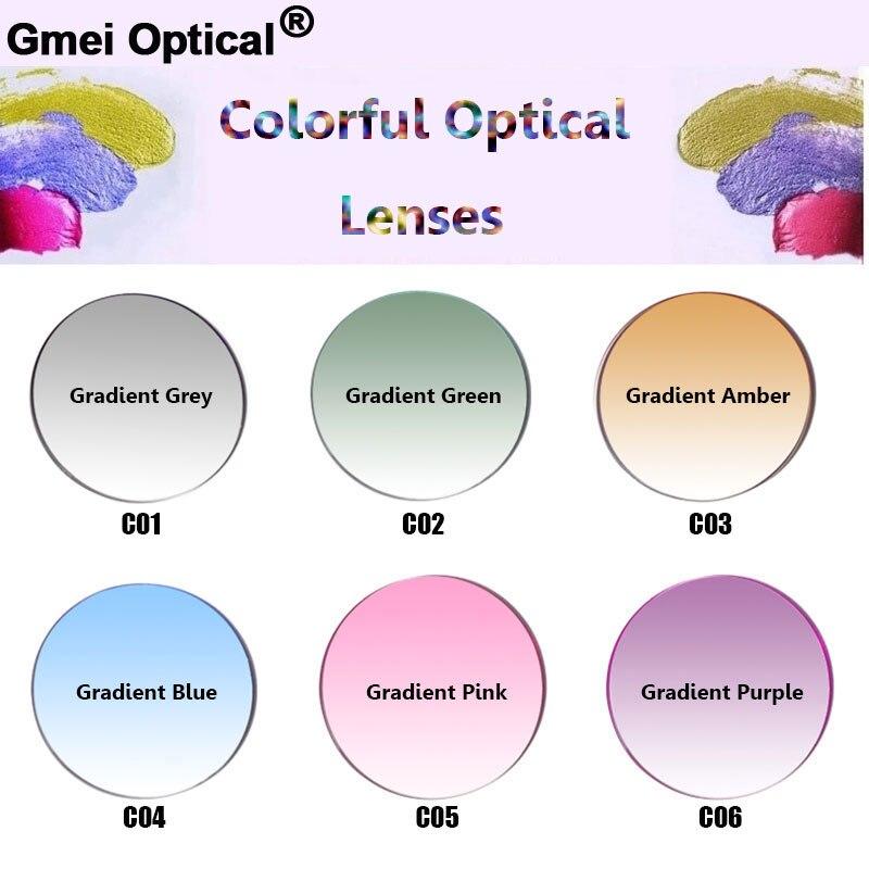Gmei Optical Radiation Protection 1.56 Index Colored Prescription Lenses HMC EMI Anti UV Optical Tinted Lens For Sunglasses
