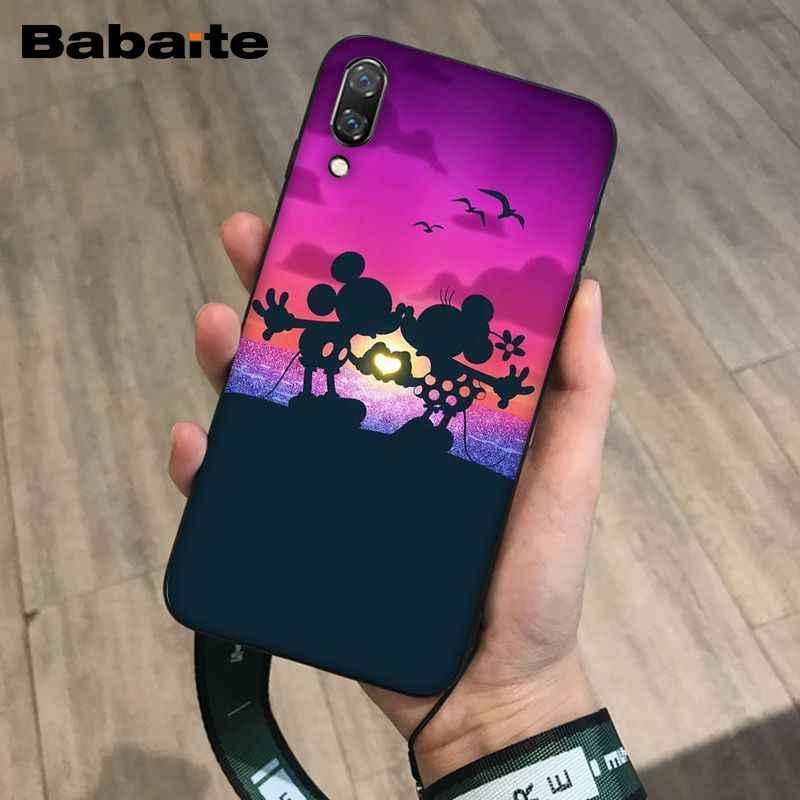 Babaite Mickey Minnie Colorido Bonito Acessórios Do Telefone para o Caso Huawei Mate10 Lite P20 Pro P9 10 P10 Mais Vista Tampa