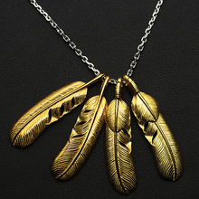 Pure 925 Sterling Silver Jewelry Feather Charms With Vintage Pendant for Men Thai Silver Necklace Chain Fine Gift 627 все цены