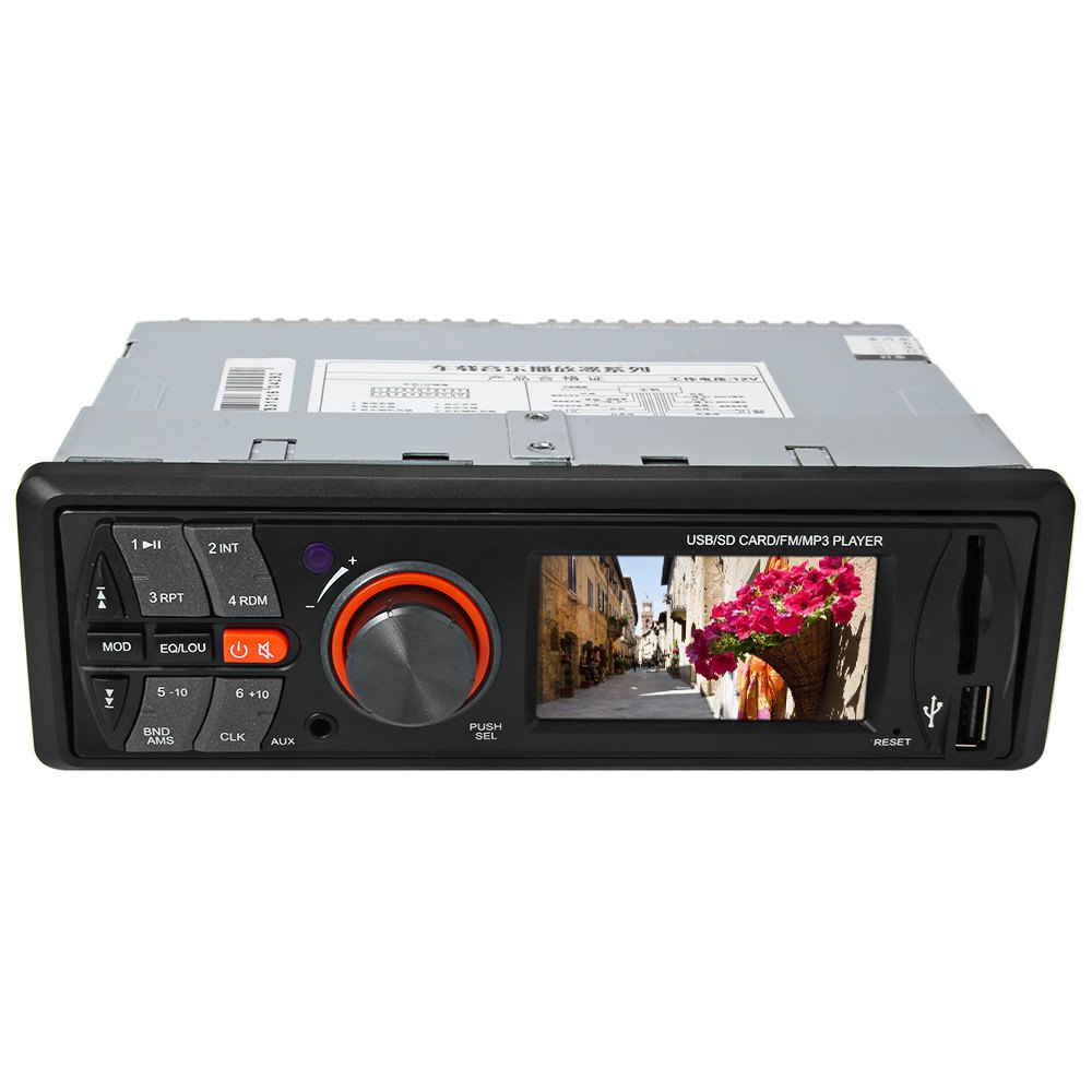 цена на AV283 12V MP3 Audio Player HiFi Car Stereo FM Radio Vehicle Electronics In-dash with USB / SD Port Built-in 4 Loudspeakers