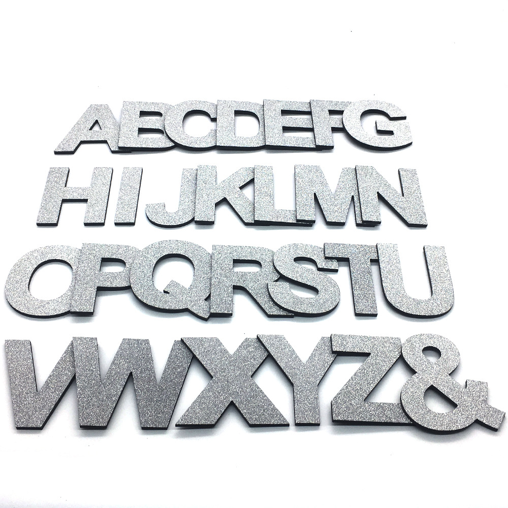 Us 0 62 52 Off Diy Shiny Silver Capital English Letters Wall Stickers Living Room Bedroom Background Home Decor Pvc Removable In