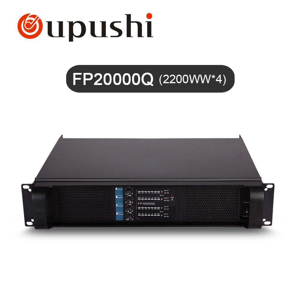 FP20000Q  2200W*4 channels  Professional amplifier  high quality  oupushi