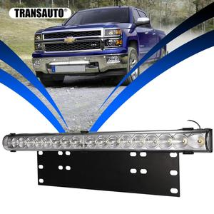 Image 1 - 20 inch 10800LM Spot Flood Led Light Bar with Universal License Plate Frame Mounting Bracket Kit for Truck Car ATV SUV 4X4 Jeep