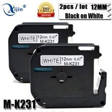 2 шт/комплект Совместимость M-K231 MK231 MK 231 м K231 для брата M ленты Этикетка картридж