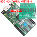 HD C10 HD-C10+HUB75E-10 Asychronous full color LED control card USB+Ethernet Port 1/32 scan HUB75E 10*HUB75E