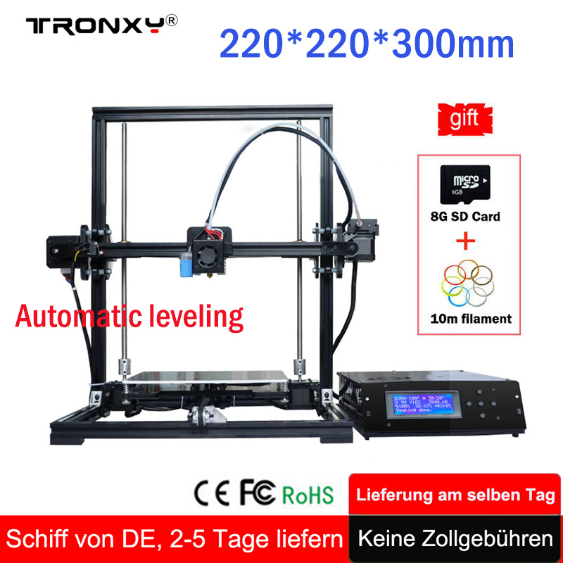 High Precision Tronxy 3D Printer Kit Reprap i3 Kit DIY Kit Printer 3D Self Assembly MK3 Extruder Nozzle Auto leveling 3D Printer reprap prusa i3 anet a8 3d printer auto leveling extruder assembly kit with silicone sock all metal extruder carriage