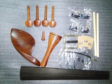 1 Set French Style Rose wood Violin parts SF04+maple bridge+sound post+violin string+4 fine tuner+chin rest clap etc all in 4/4