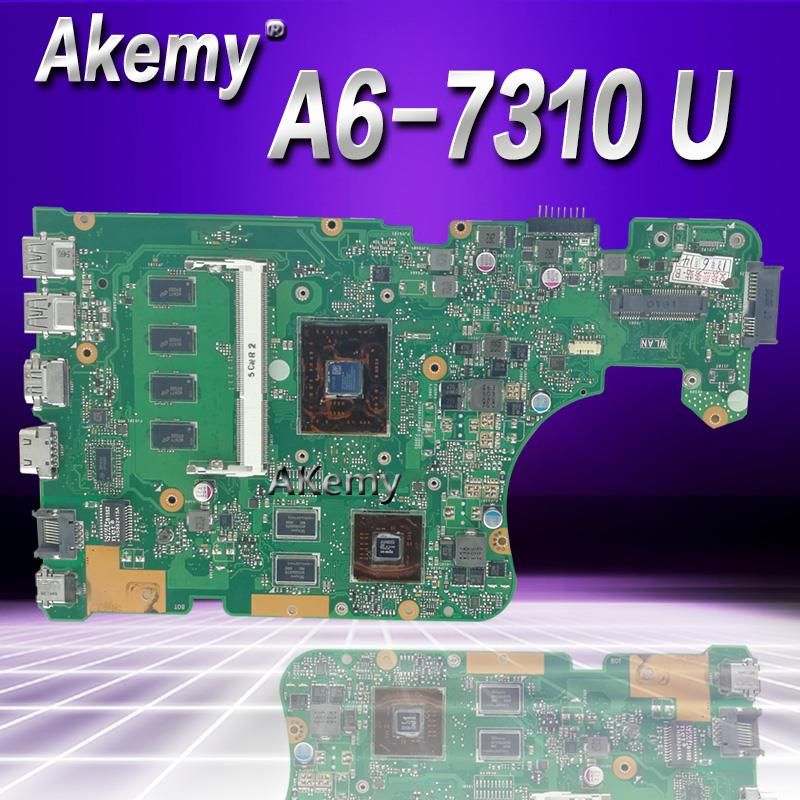 Akemy For ASUS X555DG X555YI X555Y x555d laptop motherboard CPU A6-7310 2G graphics 4G memory 100% test OKAkemy For ASUS X555DG X555YI X555Y x555d laptop motherboard CPU A6-7310 2G graphics 4G memory 100% test OK