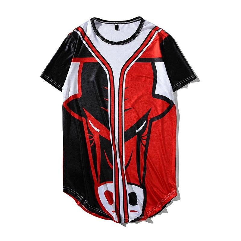 Composite Bats T shirt Baseball Jersey Harajuku Style Short Sleeve Funny Print