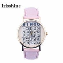 Z720 Irisshine Mulheres relógios senhora menina presente Analógico de Pulso de Quartzo Das Mulheres de Couro marca de Luxo