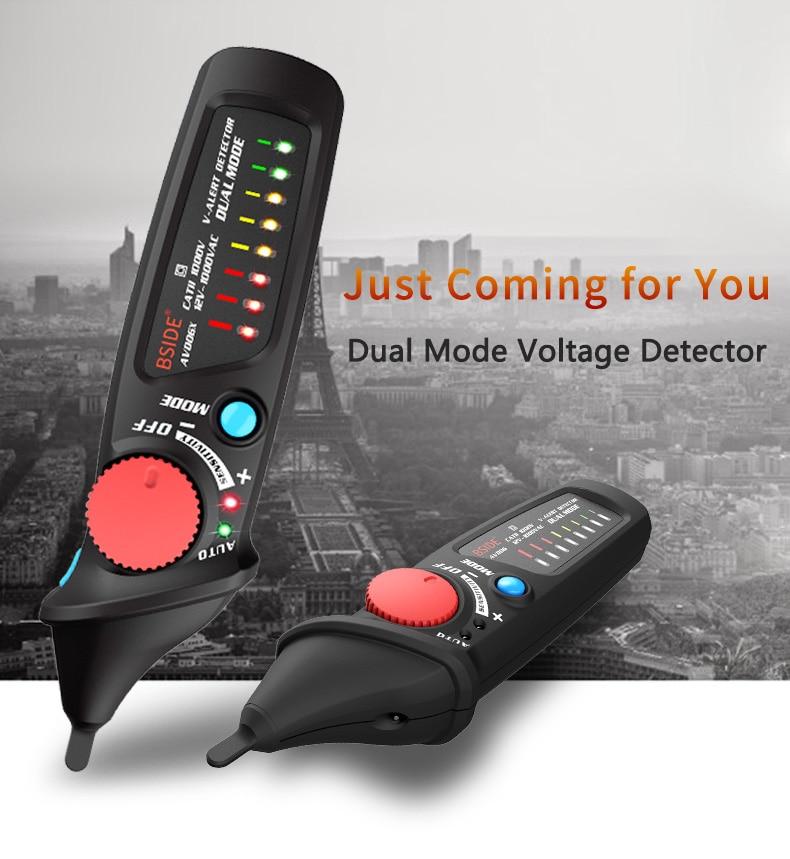 BSIDE Non Contact AC Voltage Detector Tester Meter 12V-1000v Pen Style Electric Indicator LED Outlet Voltage Dectetor Sensor