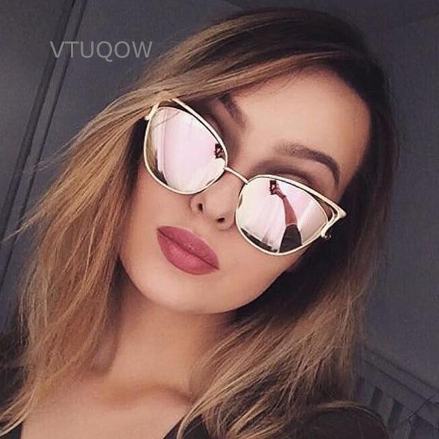 32e3b12d76969 Luxury Cat Eye Óculos De Sol Das Mulheres Designer de Marca Retro Vintage  Óculos de Sol