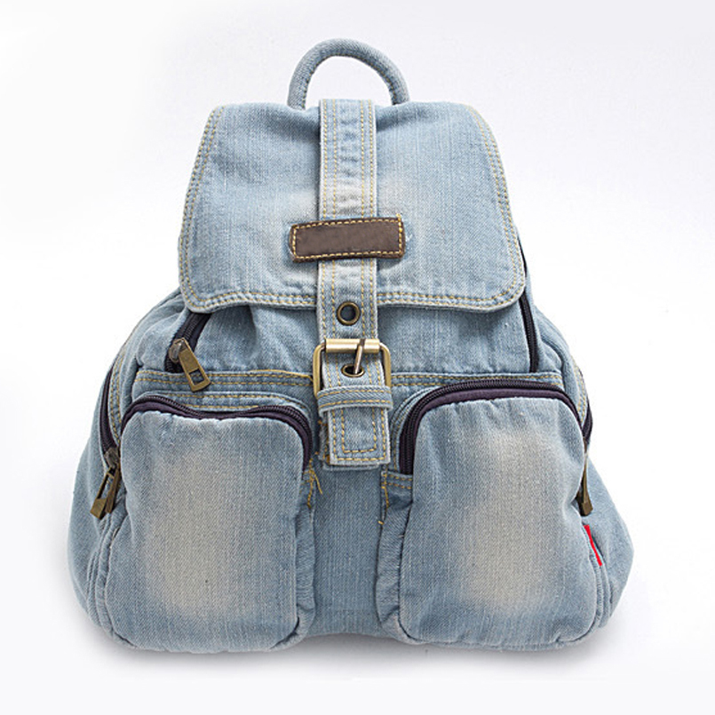 Hot Sale Kvinder rygsække til Girl Teenagers Vintage Denim Tasker Backpack School Bag Pack rejse taske Feminina Knapsack