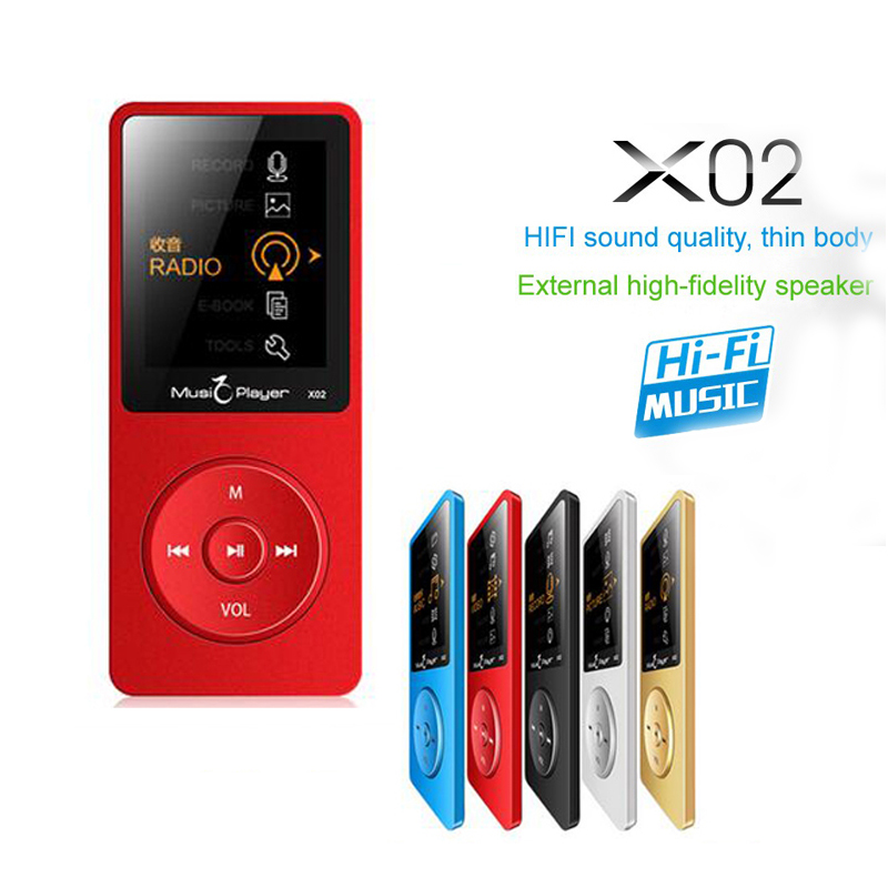 IQQ X02 Ultrathin 8GB MP3 Player With 1.8 Inch Screen Can Pl